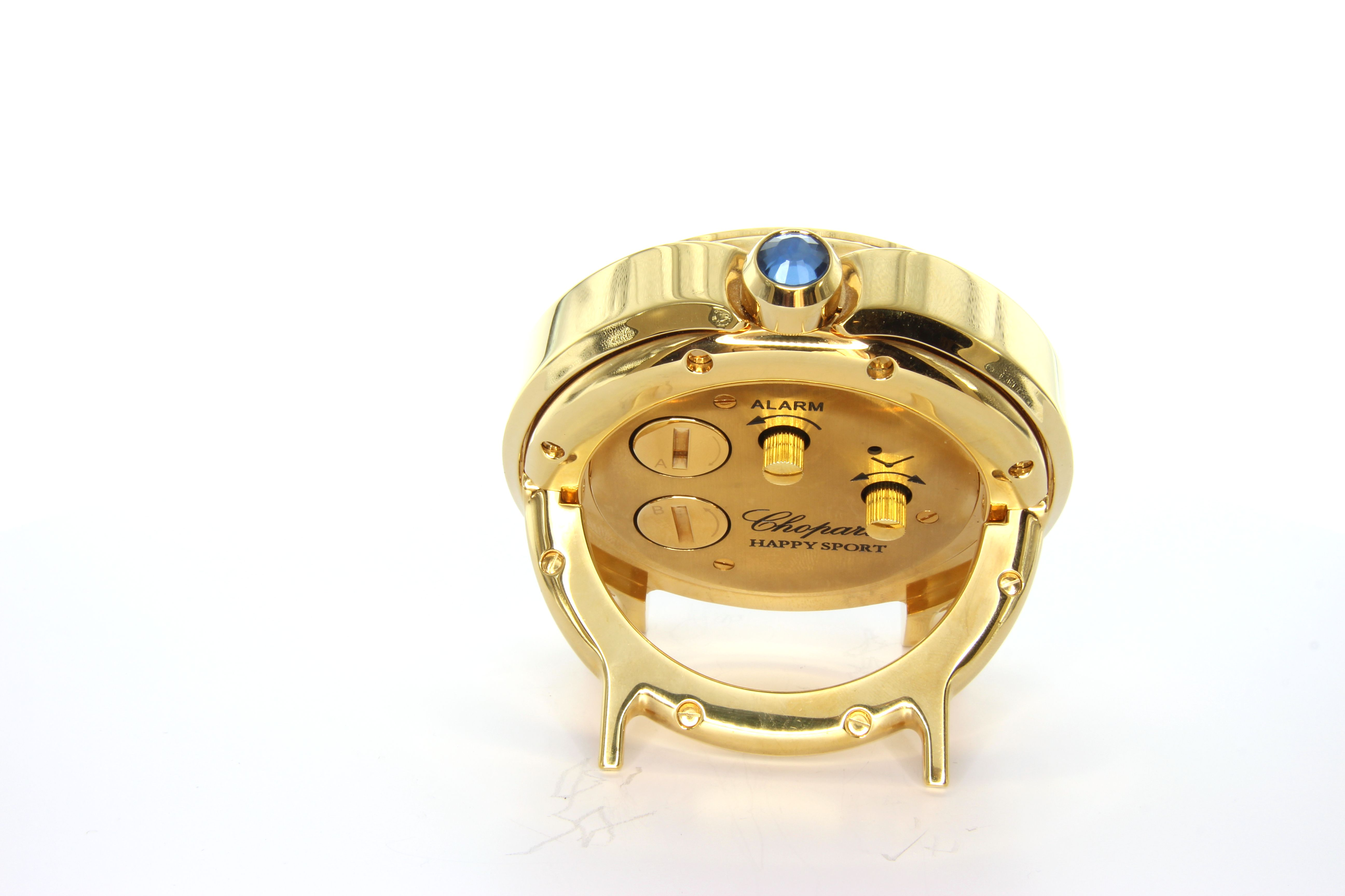 CHOPARD HAPPY SPORT ALARM CLOCK 95020-0027